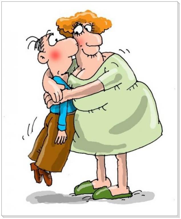 Смешные анекдоты про мужа и жену короткие бесплатно